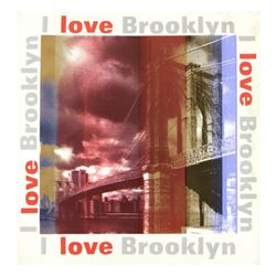 "Steve Kaufman (1960-2010), ""I Love Brooklyn"" Hand Pulled Silkscreen on Canvas, Hand Signed Inverso w"