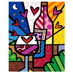 "Romero Britto ""Rose All Day"" Hand Signed Limited Edition Giclee on Canvas; Authenticated"