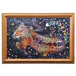 "Vera V. Goncharenko- Original Giclee on Canvas ""Strong Tiger"""
