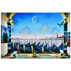 """Ferjo, """"Masters Overlooking"""" Original Painting on Canvas, Hand Signed with Letter of Authenticity."""
