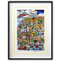"Charles Fazzino- 3D Construction Silkscreen Serigraph ""Looneywood"""
