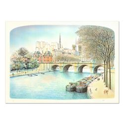 """Rolf Rafflewski, """"Seine II"""" Limited Edition Lithograph, Numbered and Hand Signed."""