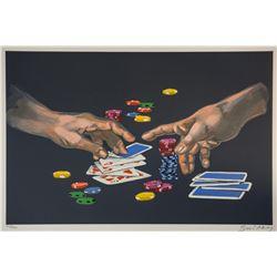 "Waldemar Swierzy (1931-2013)- Hand Pulled Original Lithograph ""First Gamble"""