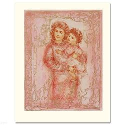 """""""Millennium Joy"""" Limited Edition Lithograph by Edna Hibel, Numbered and Hand Signed with Certificate"""