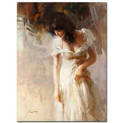 """Pino (1939-2010), """"White Rhapsody"""" Artist Embellished Limited Edition on Canvas (30"""" x 40""""), PP Numb"""