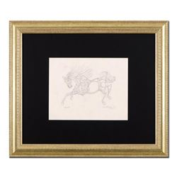 """Guillaume Azoulay - """"BY Sketch"""" Framed Original Drawing, Hand Signed with Certificate of Authenticit"""