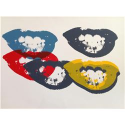 """Andy Warhol- Silk Screen """"I Love Your Kiss Forever Forever"""""""