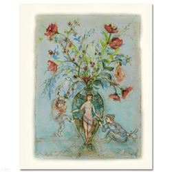 """""""Sprites of the Grecian Urn"""" Limited Edition Lithograph by Edna Hibel, Numbered and Hand Signed with"""