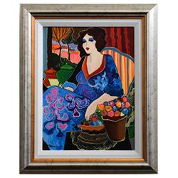 "Patricia Govezensky- Original Acrylic on Canvas ""Valentina"""