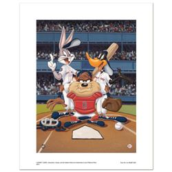 """""""At the Plate (Red Sox)"""" Numbered Limited Edition Giclee from Warner Bros. with Certificate of Authe"""