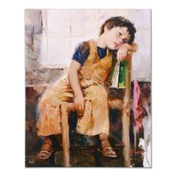"""Pino (1939-2010), """"Little Prince"""" Artist Embellished Limited Edition on Canvas, AP Numbered and Hand"""