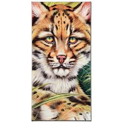 """Ocelot Eyes"" Limited Edition Giclee on Canvas by Martin Katon, Numbered and Hand Signed. This piece"