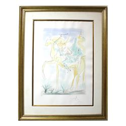 "Salvador Dali- Original Engravings with color ""Adam and Eve"""