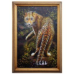 "Vera V. Goncharenko- Original Giclee on Canvas ""Looking For Food"""