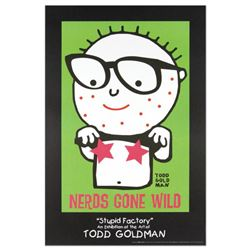 """Nerds Gone Wild"" Fine Art Litho Poster (24"" x 36"") by Renowned Pop Artist Todd Goldman."
