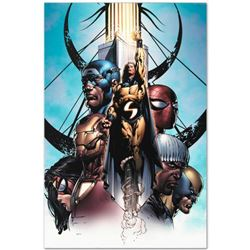 "Marvel Comics ""New Avengers #10"" Numbered Limited Edition Giclee on Canvas by David Finch with COA."