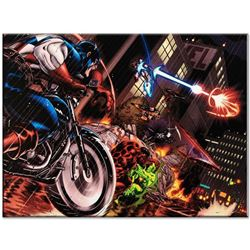 "Marvel Comics ""Avengers: X-Sanction #1"" Numbered Limited Edition Giclee on Canvas by Ed McGuinness w"
