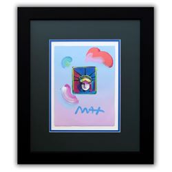 "Peter Max- Original Mixed Media ""Liberty Head II Ver. I#212"""