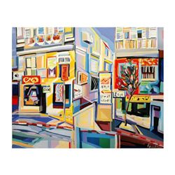 """Natalie Rozenbaum, """"Corner At Bugrashov"""" Limited Edition on Canvas, Numbered and Hand Signed with Le"""