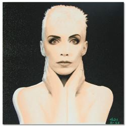 """Ringo (Protege of Andy Warhol's Apprentice, Steve Kaufman), """"Annie Lennox"""" One-of-a-Kind Hand Pulled"""