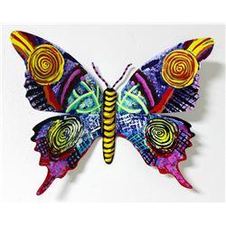 "Patricia Govezensky- Original Painting on Cutout Steel ""Butterfly CCXIV"""