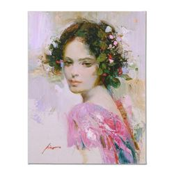 "Pino (1939-2010), ""Lily"" Artist Embellished Limited Edition on Canvas, AP Numbered and Hand Signed w"