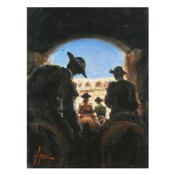 "Fabian Perez, ""Camino A La Gloria"" Hand Textured Limited Edition Giclee on Board. Hand Signed and Nu"
