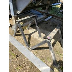 PAIR OF METAL SAWHORSE STANDS