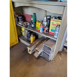 SHELF WITH CONTENTS INCLUDES WELDING
