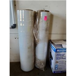 2 PARTIAL ROLLS OF SHRINK WRAP