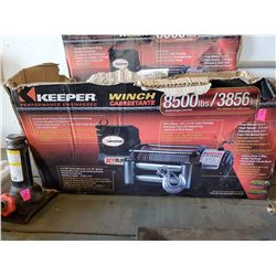 KEEPER WINCH RATED 8500LBS SINGLE LINE