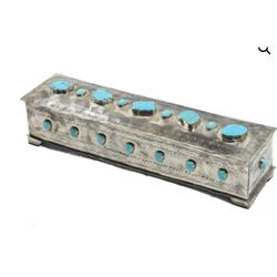 Turquoise and Silver Box with Jewelry  Sponsored by: J Alexander & Caswell Trading