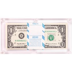 Pack of (100) 1999 $1 Federal Reserve STAR Notes New York in Capital Holder