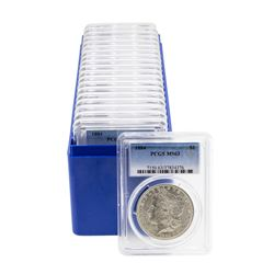 Lot of (20) 1884 $1 Morgan Silver Dollar Coins PCGS MS63