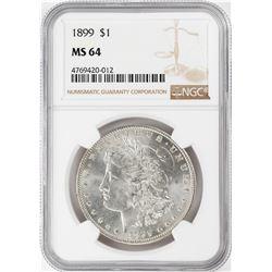 1899 $1 Morgan Silver Dollar Coin NGC MS64