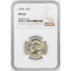 1939 Washington Quarter Coin NGC MS66