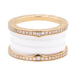 BVLGARI 18KT Rose Gold 0.50 ctw Diamond Ring