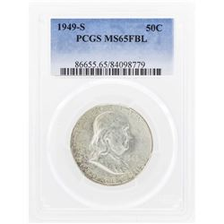 1949-S Franklin Half Dollar Coin PCGS MS65FBL