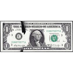 1969B $1 Federal Reserve Note Ink Smear ERROR