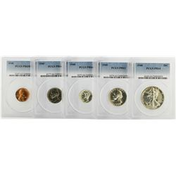 1940 (5) Coin Proof Sets PCGS Graded