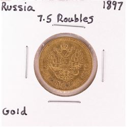 1897 Russia 7.5 Roubles Gold Coin