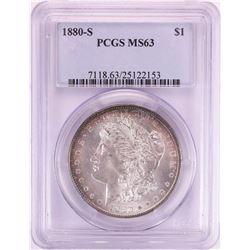 1880-S $1 Morgan Silver Dollar Coin PCGS MS63
