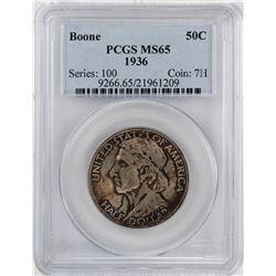 1936 Boone Commemorative Half Dollar Coin PCGS MS65