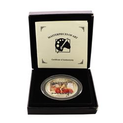 2013 $20 Cook Islands Masterpieces of Art Silver Coin w/ Box & COA