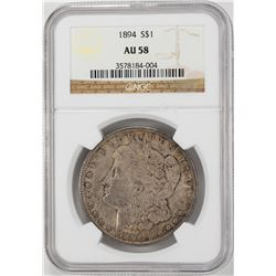 1894 $1 Morgan Silver Dollar Coin NGC AU58