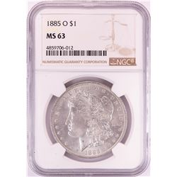 1885-O $1 Morgan Silver Dollar Coin NGC MS63