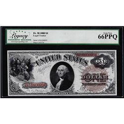 1880 $1 Legal Tender Note Fr.30 Legacy Gem New 66PPQ