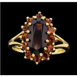 14KT Yellow Gold Ladies 3.10 ctw Garnet Ring