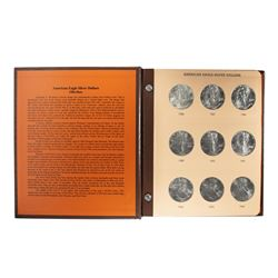 Set of 1986-2020 $1 American Silver Eagle Coins in Dansco Book