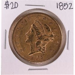 1852 Type 1 $20 Liberty Head Double Eagle Gold Coin